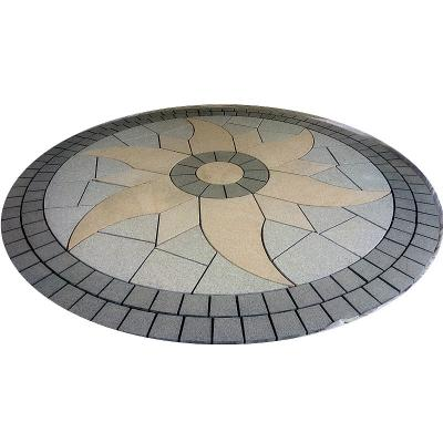 Waterjet cut mosaic paving